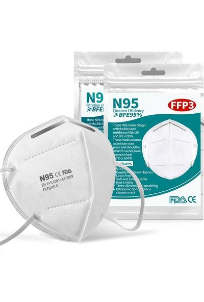 4A Medical N95 Maske Ffp3 Ce Fda Belğeli 4 Katman Ffp3 ( 5 Adet )