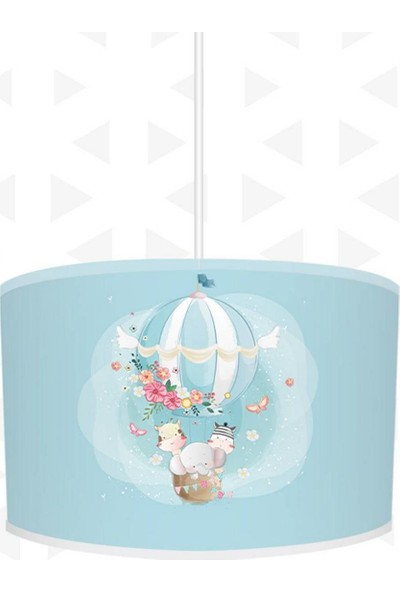 Dekogen Çiçek Detaylı Uçan Balon Çocuk Odası Avize