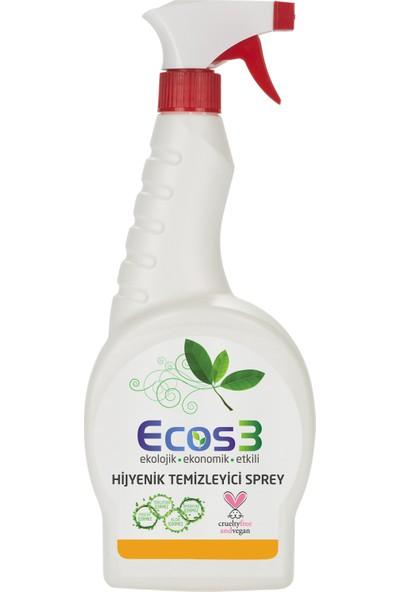 Ecos3 Ekolojik Hijyenik Temizleyici Sprey 2 x 750 ml + 125 ml
