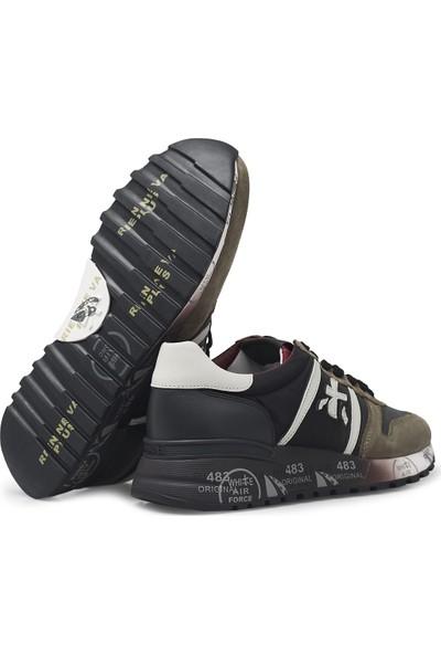 Premiata Baskılı Kalın Taban Deri Erkek Ayakkabı Lander 4949