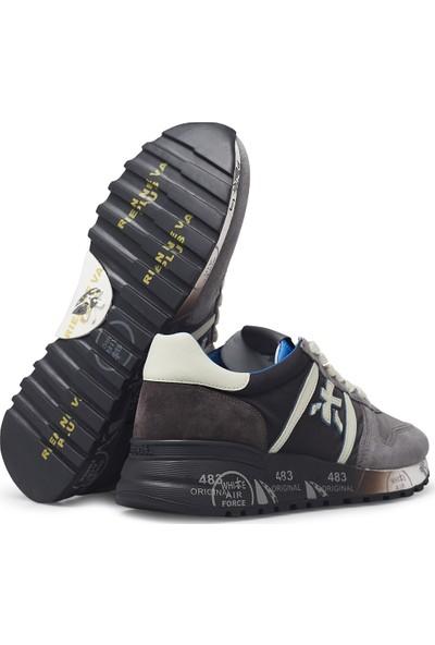 Premiata Baskılı Kalın Taban Deri Erkek Ayakkabı Lander 4950