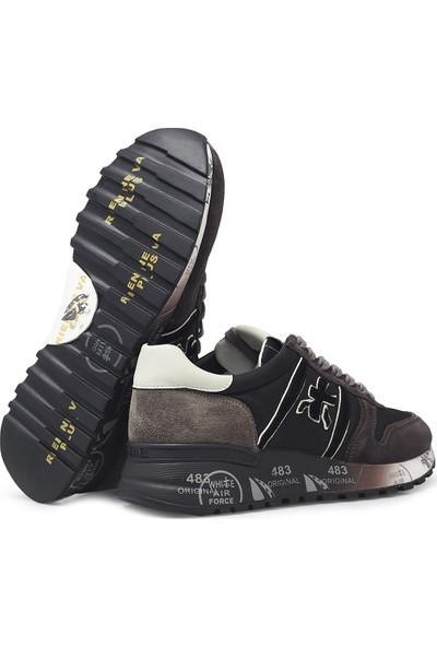 Premiata Baskılı Kalın Taban Deri Erkek Ayakkabı Lander 4951