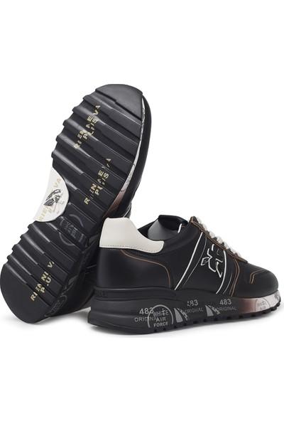 Premiata Baskılı Kalın Taban Deri Erkek Ayakkabı Lander 4946