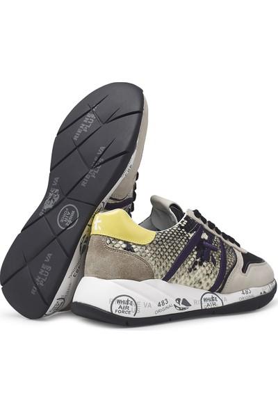 Premiata Baskılı Kalın Taban Deri Ayakkabı Kadın Ayakkabı Layla 4855