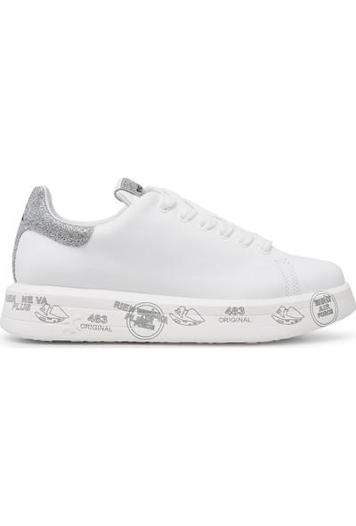 Premiata Baskılı Kalın Taban Deri Ayakkabı Kadın Ayakkabı Belle 4903