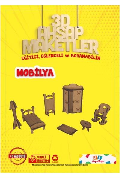 Joy And Toys Jt3 Ahşap Minyatür Ev Eşyaları Boyama Seti
