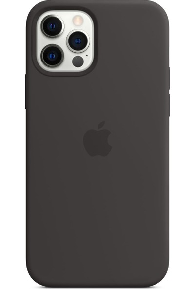 Apple iPhone 12 - 12 Pro Silikon Kılıf MagSafe Siyah - MHL73ZM/A