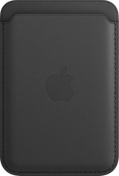 Apple iPhone 12'ler için Deri Cüzdan MagSafe Siyah - MHLR3ZM/A