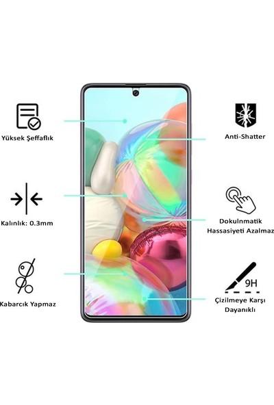 Herbütçeye Oppo A52 / A72 / A92 İnce Mat Parfe Sert Kapak + Maxi Glass Ekran Koruyucu - Pembe