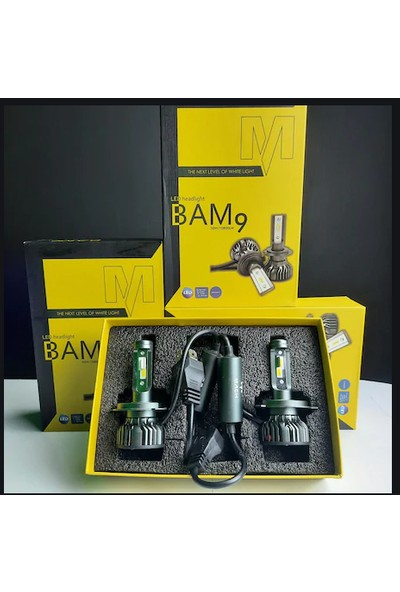 Match Bam9 10800 H1 Lümen LED Xenon Far Slim Balans Şimşek Etkili