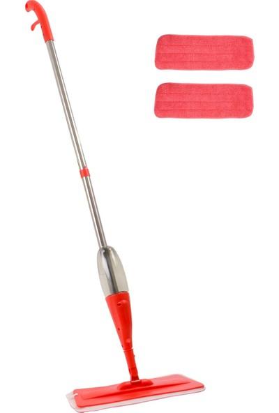 Urve Mikrofiber Sprey Mop 2 Bezli Kırmızı