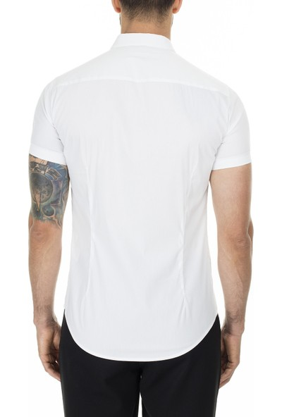 Emporio Armani Slim Fit Düz Yaka Erkek Gömlek 3H1C10 1N6Rz 0100