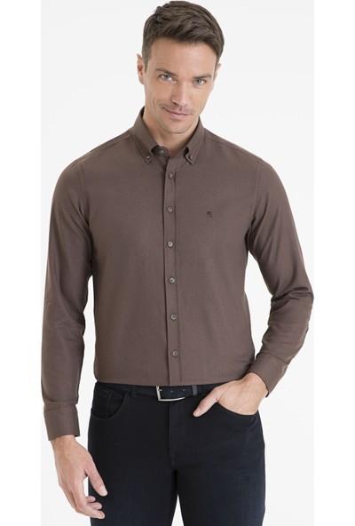 Pierre Cardin Kahverengi Slim Fit Gömlek 50233542-VR029