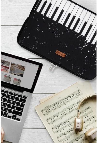 """Hamur Easy Case 13"""" Laptop Çantası Notebook Kılıfı Piano New"""