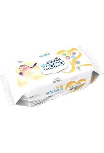 Ultra Compact Momo Yenidoğan Multi Vitaminli Islak Mendil, Havlu 12 Paket = 1200 Yaprak