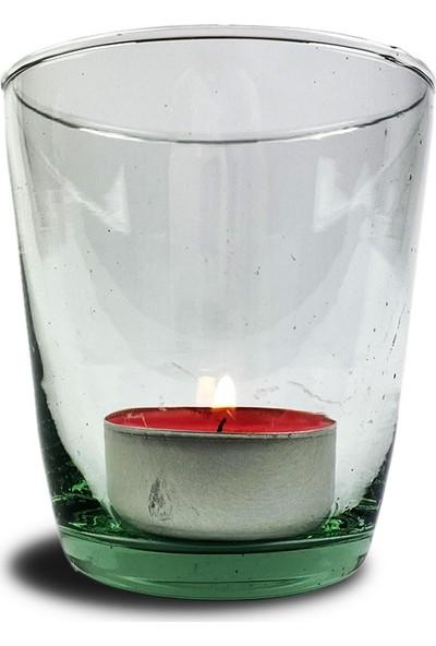 Alesta Home Dekoratif Cam Tea Light Mumluk 7 x 8 cm