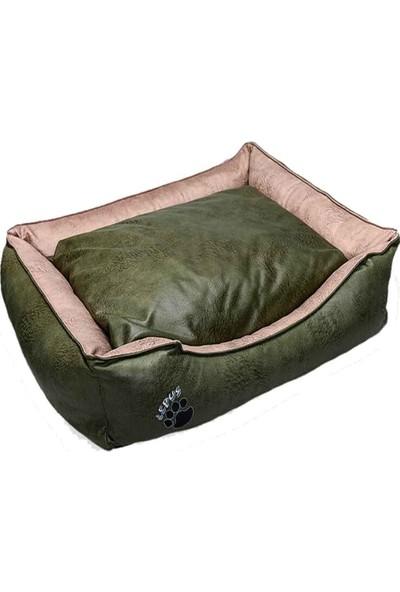 Lepus Premium Kedi Köpek Yatağı L Yeşil