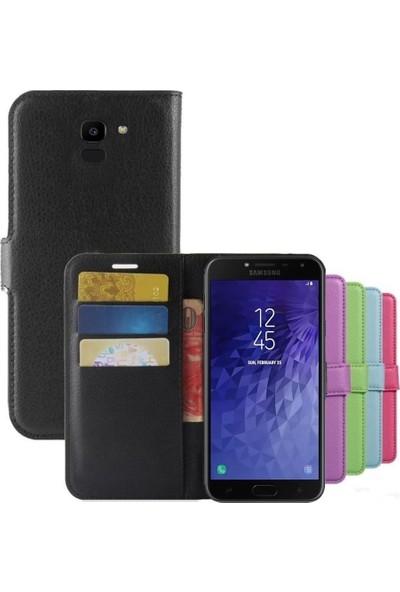 SmartBerry Samsung Galaxy J6 Kılıf Kapaklı Cüzdan Mavi
