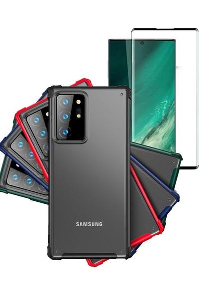 SmartBerry Samsung Galaxy Note 20 Ultra Kılıf Volks Silikon Darbe Korumalı + Ekran Koruyucu Ped Kırmızı