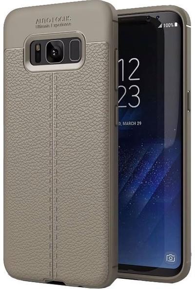 SmartBerry Samsung S8 Niss Kılıf Tam Koruma Silikon + Tam Kaplayan Ekran Koruyucu Antrasit