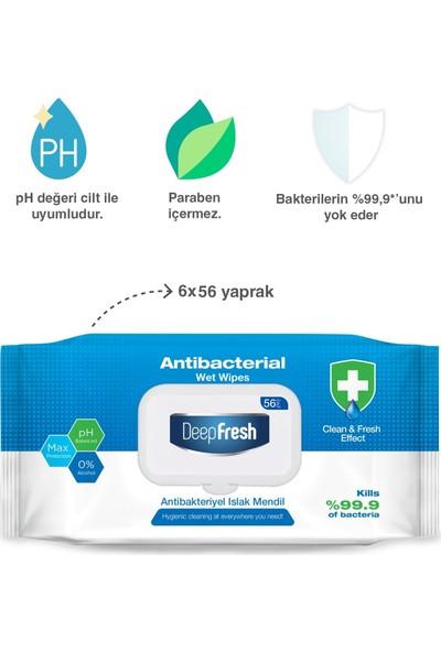 Deep Fresh Antibakteriyel Islak Mendil 6 x 56 Yaprak