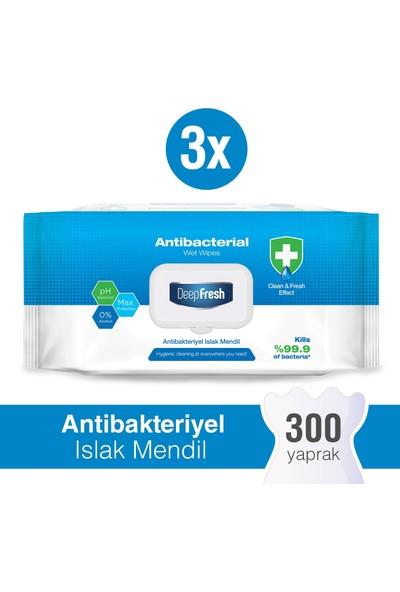 Deep Fresh Antibakteriyel Islak Mendil 3 x 100 Yaprak