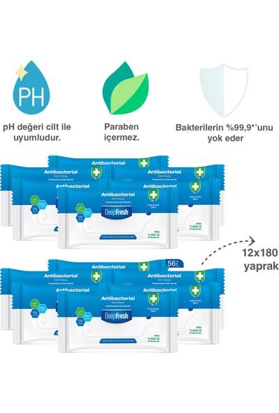 Deep Fresh Antibakteriyel Islak Cep Mendili 12 x 15 Yaprak