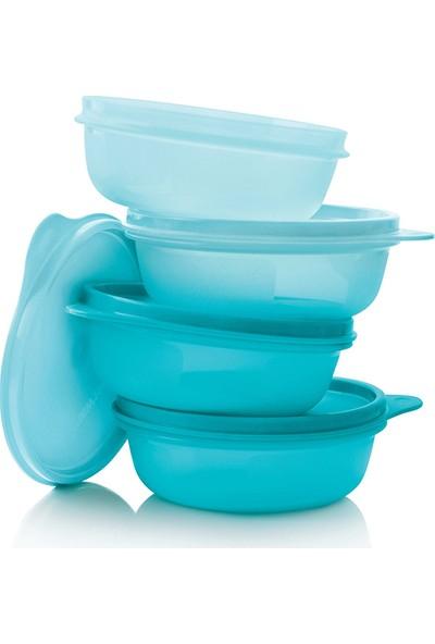 Tupperware Şeker Kaplar ( 4 x 300 ml ) Mavi