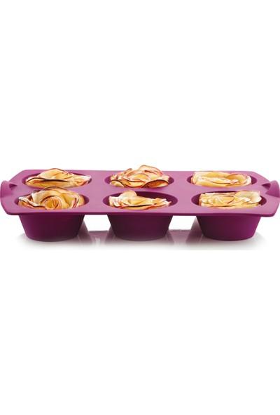 Tupperware Mucize Kalıp Mini Kekler Mor