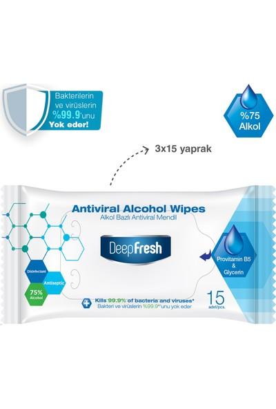 Deep Fresh Antiviral Hijyen Seti Maske x 3 + Antiviral Cep Mendili 45 Yaprak + Sprey Dezenfektan 100 ml + Kolonya 100 ml