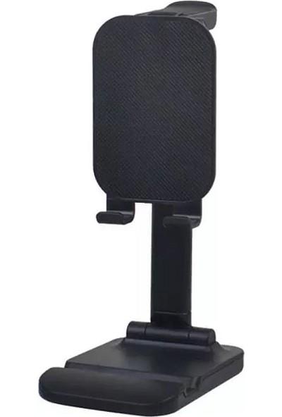 CoverZone Masaüstü Katlanabilir Telefon ve Tablet Tutucu Stand Siyah