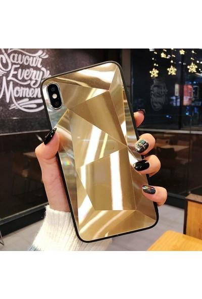 CoverZone Samsung Galaxy S20 Kılıf Elmas Kesim Mirror Beyaz