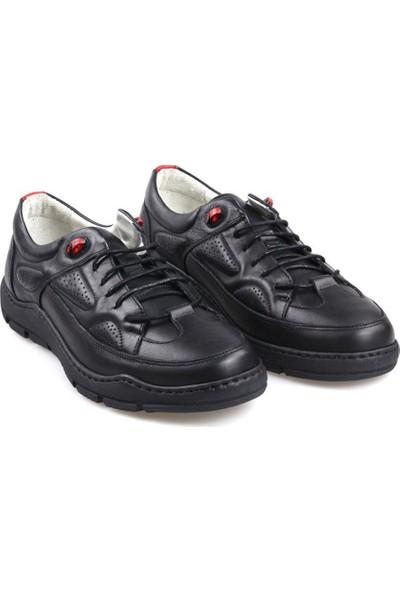 James Franco 5550 Ortapedik Siyah Günlük Erkek Deri Ayakkabı