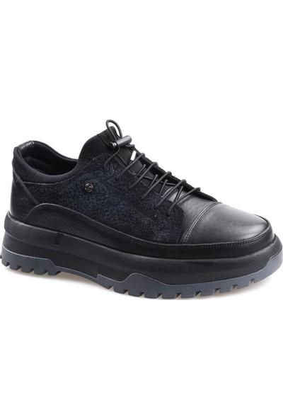James Franco 5974 Ortapedik Siyah Günlük Erkek Deri Ayakkabı