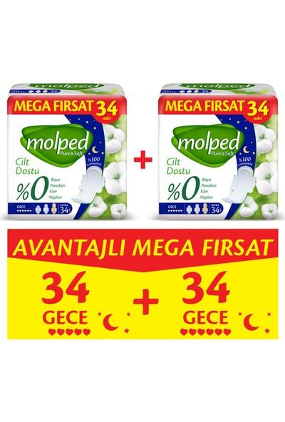 Molped Pure&Soft Gece Avantajlı Mega Fırsat Paketi 68 Adet
