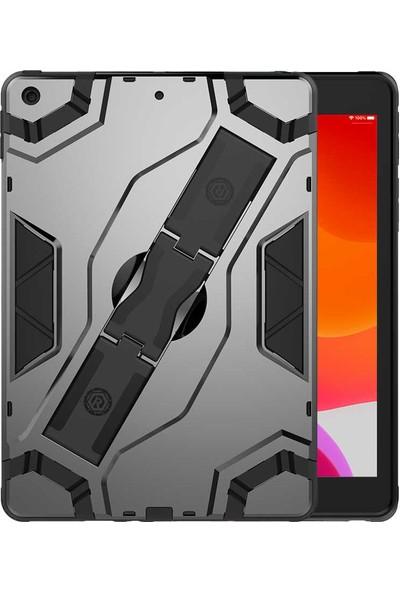 """Fibaks Apple iPad 8. Nesil 2020 10.2"""" Kılıf Defens 360 Derece Tam Koruma Armor Tank Zırh Standlı + Ekran Koruyucu Siyah"""