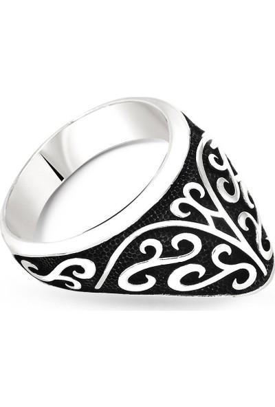 Tesbihname Özel Tasarım 925 Ayar Gümüş Okçu (Zihgir) Yüzüğü
