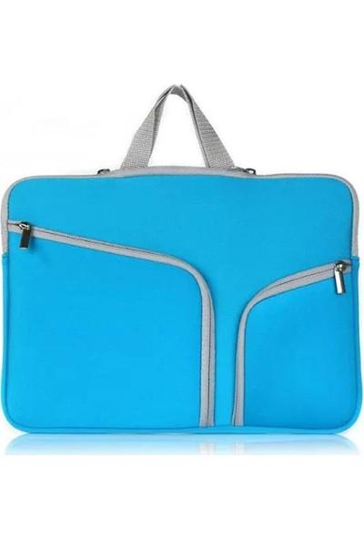 Yukka 15'' Açık Mavi Cepli Laptop Çantası