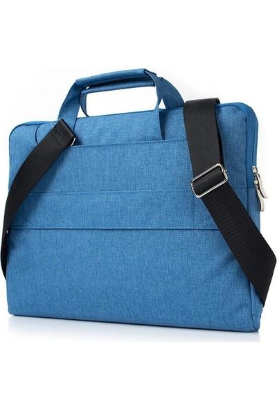 """Yukka Klasik 12"""" Açık Mavi Laptop Çantası"""