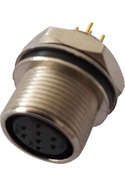 Alkan 8 Pin Dişi Opsiyon Şase Konnektör