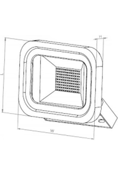 Borled 20 W Led Eco Projektör 6500K Beyaz