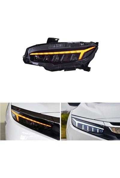 Honda - Cıvıc Fc5/fk7 Kayar Sinyalli LED Far Takımı (2016-2019)