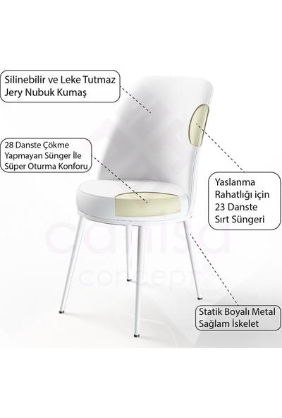 Canisa Concept Yemek Masası Mutfak Masası Takımı 4 Sandalyeli