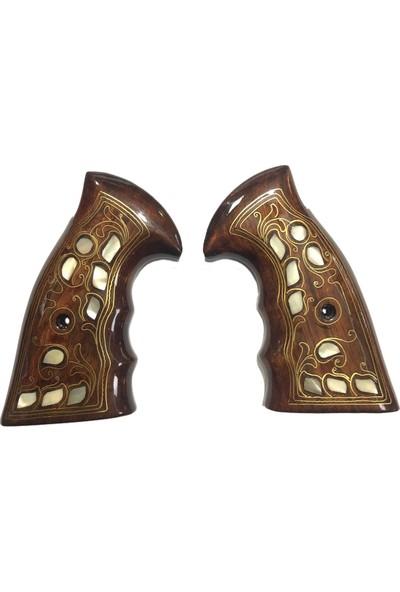 Arslantaş Smith Wesson Toplu K, L, N Çerçeve Sedef Kakma Ahşap Kabze MOD18