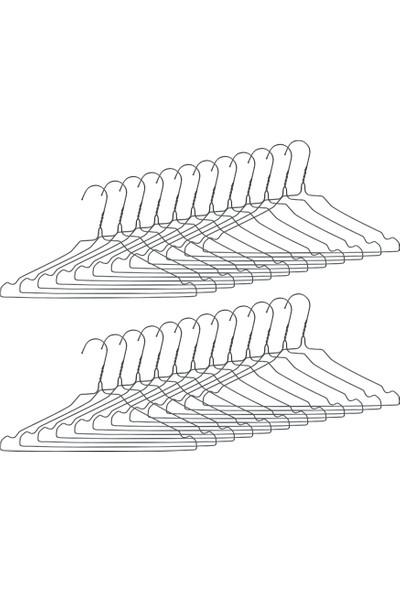 Ganteks Metal Elbise Askısı Kıyafet Askısı 100 Adet