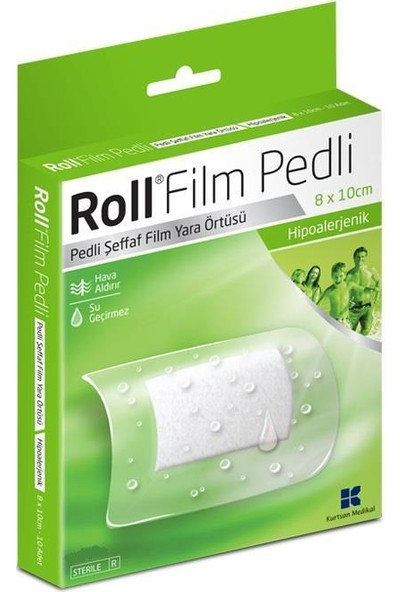 Roll Film Pedli 8X10 cm 50LI Steril Yara Örtüsü Su Geçirmez