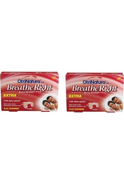 Breathe Right Extra Burun Bandı 10'lu x 2 Paket