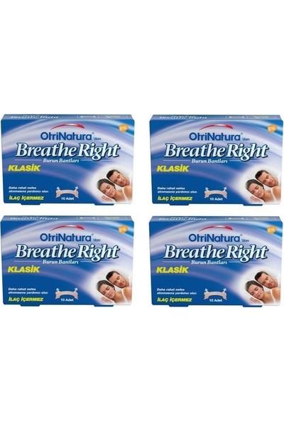Breathe Right Burun Bandı Klasik Normal Boy 10'lu x 4 Paket