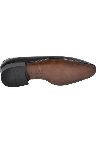 Fosco Rugan Siyah Erkek Deri Klasik Ayakkabı