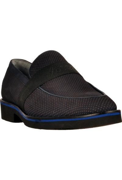 Fosco Lacivert Nubuk Erkek Deri Klasik Ayakkabı